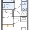 在大阪市東淀川区内租赁1K 公寓大厦 的 楼层布局