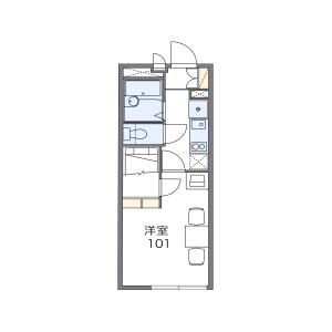 大阪市東淀川区東淡路-1K公寓大厦 楼层布局