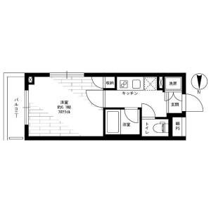 新宿區西落合-1K公寓大廈 房間格局
