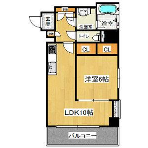 1LDK Mansion in Jusohigashi - Osaka-shi Yodogawa-ku Floorplan