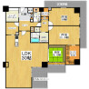 3LDK Apartment to Rent in Osaka-shi Yodogawa-ku Floorplan