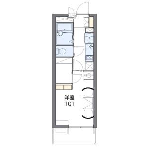 1K Mansion in Nanakuma - Fukuoka-shi Jonan-ku Floorplan