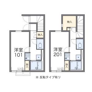 1K 아파트 in Kamisaginomiya - Nakano-ku Floorplan