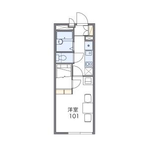 1K Apartment in Sakaecho - Kasukabe-shi Floorplan