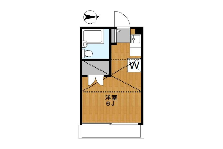 1R Apartment to Rent in Toshima-ku Floorplan