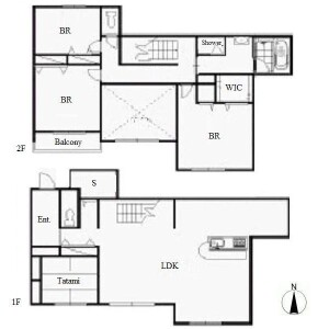 4LDK Town house in Yatomicho maruyama - Nagoya-shi Mizuho-ku Floorplan