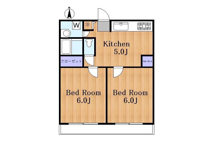 在世田谷區內租賃2DK 公寓 的房產 內部