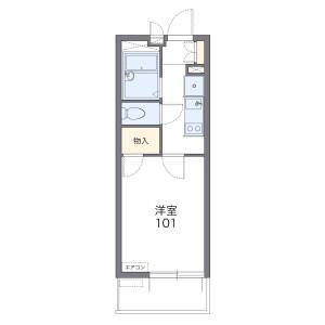 市川市塩焼-1K公寓大廈 房間格局