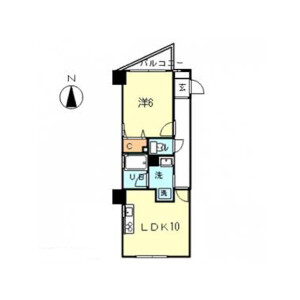 1LDK Mansion in Komazawa - Setagaya-ku Floorplan