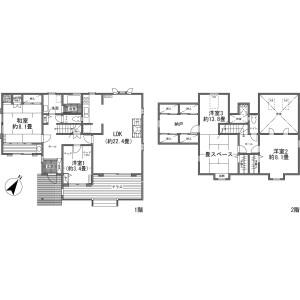 4LDK House in Nagakura - Kitasaku-gun Karuizawa-machi Floorplan