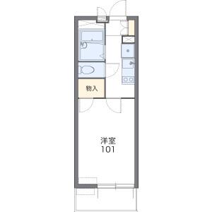 1K Mansion in Mampeicho - Kumagaya-shi Floorplan