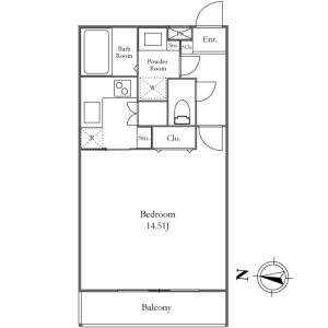 1K Mansion in Wada - Suginami-ku Floorplan