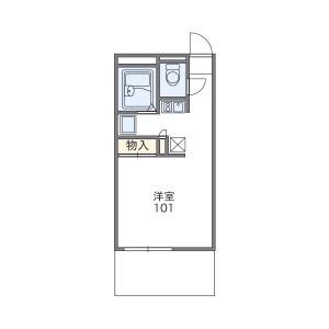 尼崎市金楽寺町-1K公寓大厦 楼层布局