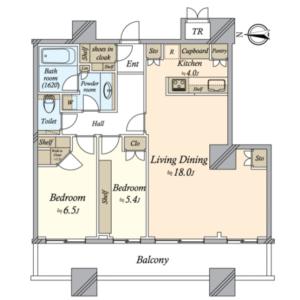 2LDK Mansion in Higashigotanda - Shinagawa-ku Floorplan