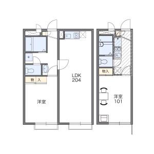 1LDK Apartment in Kugahara - Ota-ku Floorplan