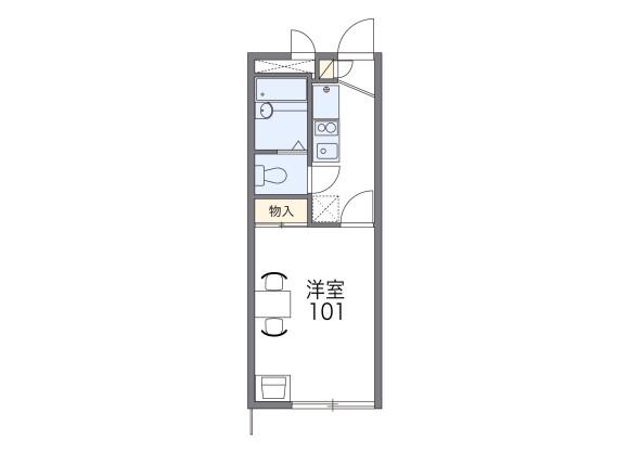 1K Apartment to Rent in Komae-shi Floorplan