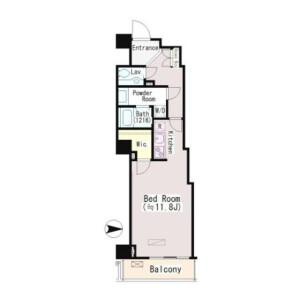 涩谷区恵比寿-1K公寓大厦 楼层布局