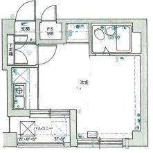 1R Apartment in Odorinishi(20-28-chome) - Sapporo-shi Chuo-ku Floorplan