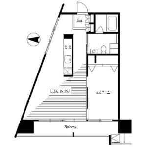1LDK Apartment in Higashisakura - Nagoya-shi Higashi-ku Floorplan