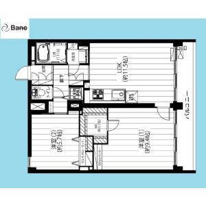 2LDK {building type} in Todoroki - Setagaya-ku Floorplan