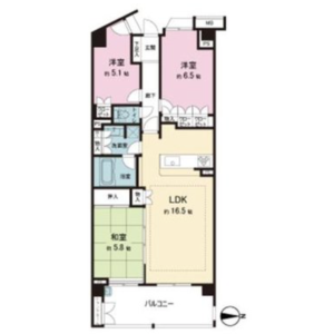 3LDK {building type} in Tamagawa - Chofu-shi Floorplan