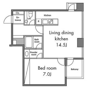 港区三田-1LDK公寓大厦 楼层布局