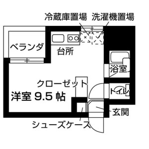 台東区 東上野 1K マンション 間取り