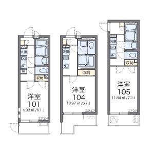 1K Apartment in Sannocho - Yokohama-shi Minami-ku Floorplan