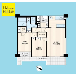 2LDK {building type} in Seta - Setagaya-ku Floorplan