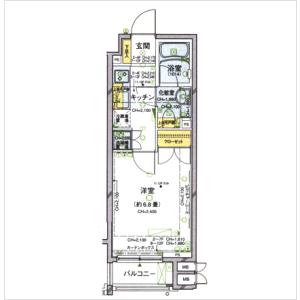 1K Mansion in Kojimachi - Chiyoda-ku Floorplan