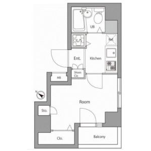 1K Apartment in Nishishinjuku - Shinjuku-ku Floorplan
