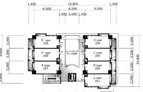 福岡市中央区地行-1K{building type}