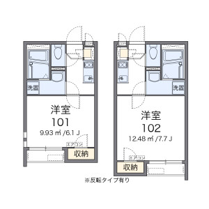 名古屋市昭和區白金-1K公寓 房間格局