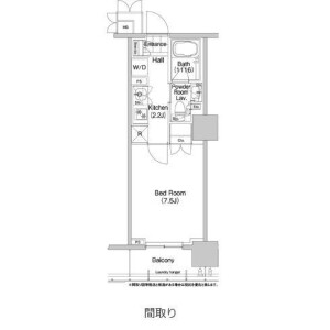 1K Mansion in Higashikanda - Chiyoda-ku Floorplan