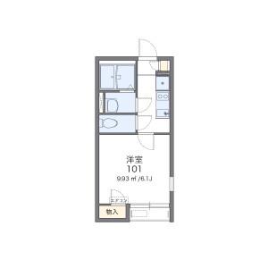 1K Apartment in Mameguchidai - Yokohama-shi Naka-ku Floorplan