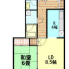1LDK Apartment to Rent in Edogawa-ku Floorplan