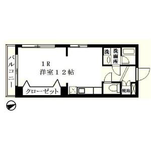 1R Mansion in Minatocho - Funabashi-shi Floorplan
