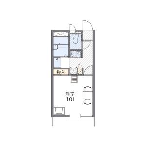 1K Apartment in Jindaijiminamimachi - Chofu-shi Floorplan