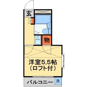 1K Apartment in Asahicho - Kashiwa-shi Floorplan