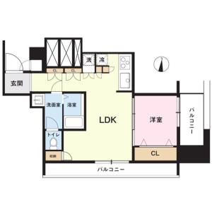 1LDK {building type} in Nishishinjuku - Shinjuku-ku Floorplan