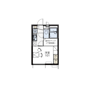 1K Mansion in Nakadai - Itabashi-ku Floorplan