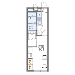 1K Apartment in Mizue - Edogawa-ku Floorplan