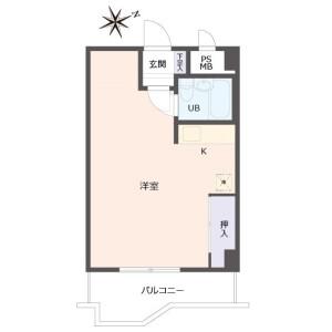 1R {building type} in Tennojichokita - Osaka-shi Abeno-ku Floorplan