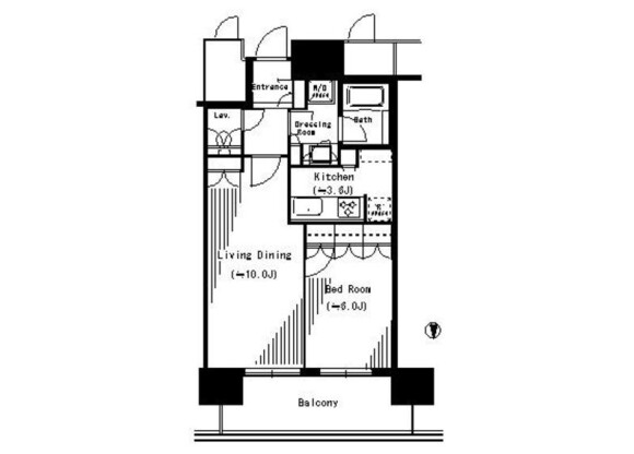1LDK Apartment to Rent in Kawasaki-shi Nakahara-ku Floorplan