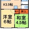 2DK Apartment to Rent in Adachi-ku Floorplan