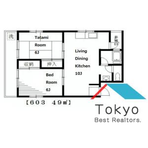 豊島區高田-2LDK公寓大廈 房間格局