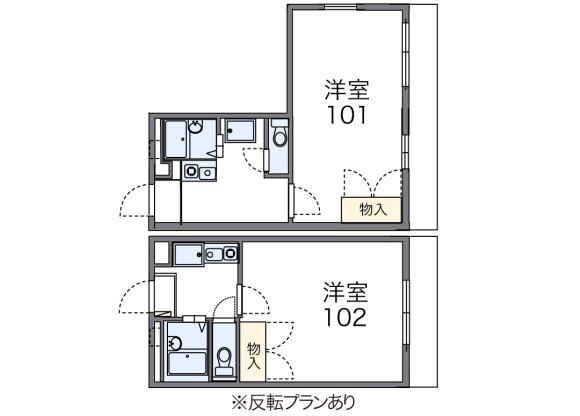 1K アパート 川崎市宮前区 間取り