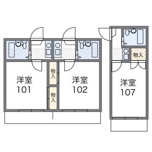 1K Apartment in Gogazuka - Itami-shi Floorplan