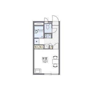 1K Apartment in Yakatabaru - Fukuoka-shi Minami-ku Floorplan