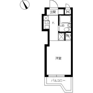 1R Mansion in Tsunashimahigashi - Yokohama-shi Kohoku-ku Floorplan